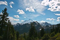 Mt baker at snoqualmie national forest view from artist point Royalty Free Stock Images