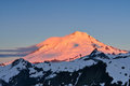 Mt baker sunrise snoqualmie national forest Stock Photography
