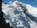 Mt Blanc and mt Maudit Stock Images