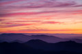 Mt buller sunset view past mansfield at from the summit of in victoria australia Stock Images