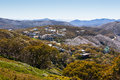 Mt buller village the view towards on a summer s day in the victoria australia Royalty Free Stock Photos