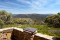 Mt buller walking track the summit trail at on a hot summer s day in victoria s high country australia Stock Photography