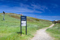 Mt buller walking track the summit trail at on a hot summer s day in victoria s high country australia Stock Image