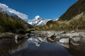 Mt.cook South Island New Zealand Royalty Free Stock Photos