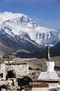 Mt everest and flannelette temple qomolangma referred to but also italian translation nepal called sacramento mata peak also known Royalty Free Stock Image