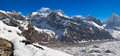 Mt everest panoramic view of m and gokyo valley from top of gokyo ri m solukhumbu district sagarmatha national park nepal Royalty Free Stock Images