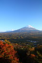 Mt. Fuji in autumn Stock Image