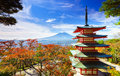 Mt. Fuji With Chureito Pagoda,...