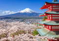 Mt. Fuji With Chureito Pagoda,...