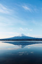 Mt fuji an inverted image of Royalty Free Stock Photos
