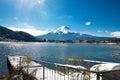 Mt Fuji on the lake kawaguchiko Royalty Free Stock Photo