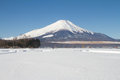 Mt fuji winter season Stock Images