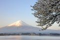 Mt fujiyama japan view of fuji at kawaguchi lake Stock Photo