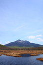 Mt.Hiuchigatake and Oze marshland Royalty Free Stock Photography