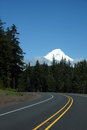 Mt hood from the highway to south oregon cascades range near redmond oregon Stock Photography