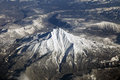 Mt jefferson oregon an aerial view of mount Royalty Free Stock Photo