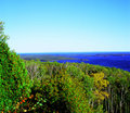 Mt josephine overlook on lake superior a panoramic autumn minnesota and the susie islands from scenically forested Stock Images