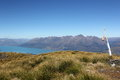 Mt judah lake wakatipu view over from queenstown lakes district Stock Photography