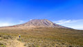 Mt kilimanjaro moshi the highest mount in africa which reaches metros at kibo peak Stock Photo