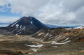 Mt Ngauruhoe, Tongariro National Park, New Zealand Royalty Free Stock Images