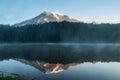 Mt.Rainier reflection at sunrise Royalty Free Stock Photo