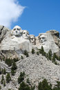 Mt rushmore with rockpile photographed from the base bright sunny day Royalty Free Stock Photos