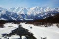 Mt. Shiroumadake, Nagano Japan Stock Afbeelding