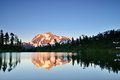 Mt shuksan sunset mount in baker snoqualmie national forest Royalty Free Stock Photography