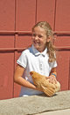 Mt vernon wa august h child chicken judging at county f unidentified girl age in is having her judged skagit fair the event was Royalty Free Stock Image