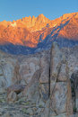 Mt. Whitney at Sunrise Royalty Free Stock Photo