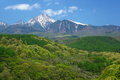 Mt. Yatsugatake of fresh green Stock Photo