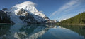 Mtassiniboine mt assiniboine reflection in lake canada Royalty Free Stock Photography
