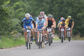 Mtb Riders in Race Royalty Free Stock Photo