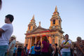 Mtv music festival in malta view of st publius church at the isle of concert on june the granaries floriana this is biggest annual Royalty Free Stock Photos