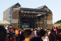 Mtv music festival in malta view of the stage of the isle of concert on june the granaries floriana this is biggest annual free Stock Photography