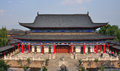 Mu residence in the old town of lijiang yunnan china aug view reflects architectural style china during Royalty Free Stock Photography