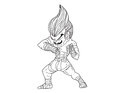 Muay Thai Boran : character cartoon 2 Stock Photography