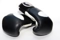 Muay thai boxing gloves oz on white Royalty Free Stock Photos