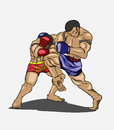 Muay thai martial art vector Stock Photos