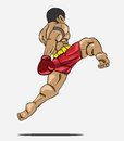 Muay thai martial art vector Royalty Free Stock Image