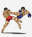 Muay thai martial art vector Royalty Free Stock Photography