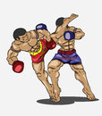 Muay thai martial art vector Stock Image