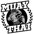 Muay Thai vector logo for boxing gym or other