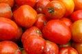 Mucchio dei pomodori rossi da un mercato Fotografia Stock Libera da Diritti