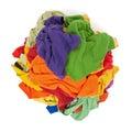 Mucchio dei vestiti variopinti da sopra Fotografia Stock Libera da Diritti