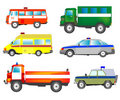 Much cars of the special services Royalty Free Stock Photo