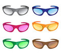 Much colors sunglasses Royalty Free Stock Photo