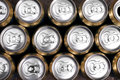 Much of drinking cans close up Royalty Free Stock Photo