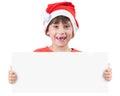 Muchacha en la imagen de Papá Noel Fotografía de archivo libre de regalías