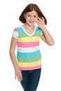 Muchacha sonriente del preadolescente Imagenes de archivo